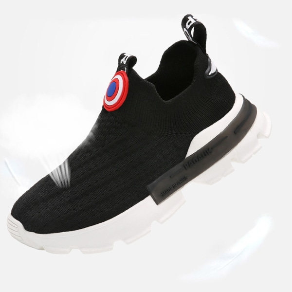 Kids Low Top Fashion Sneakers Athletic Running Shoes black,36