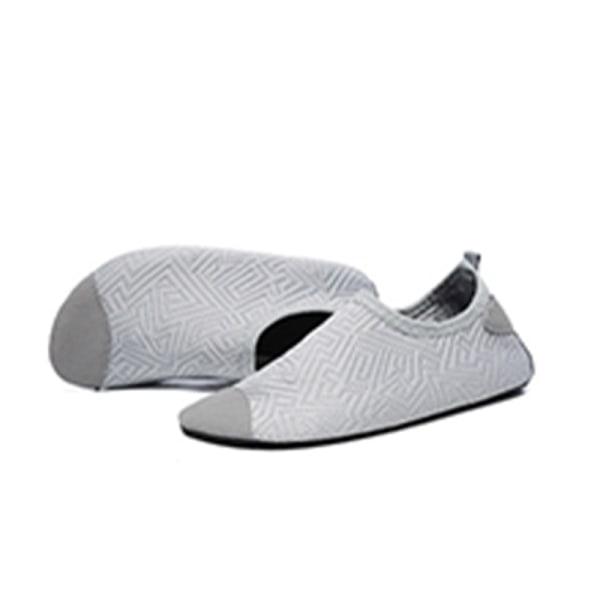 Kids Water Shoes Non-Slip Quick Dry Aqua Socks Beach Swim grey/32-33