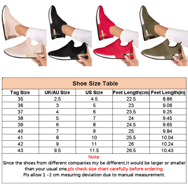 Ladies Fashion Sneakers Summer Thick Bottom Thickened Sneakers Black,38