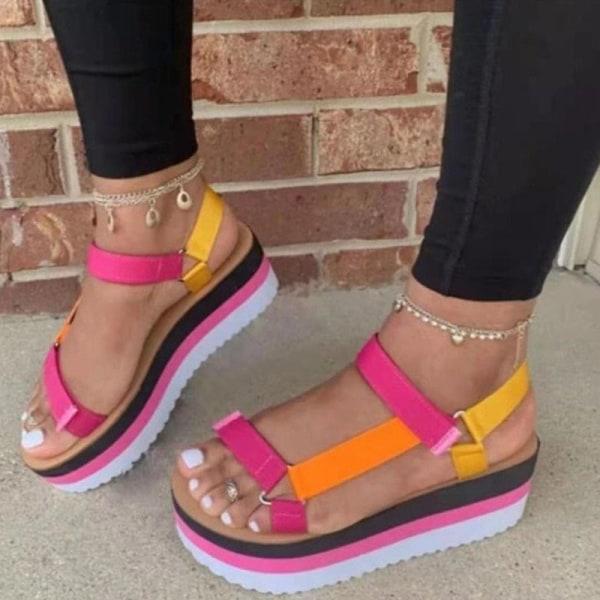 Ladies Fashion Summer Platform Shoes Hollow Casual Sandals Colour,39