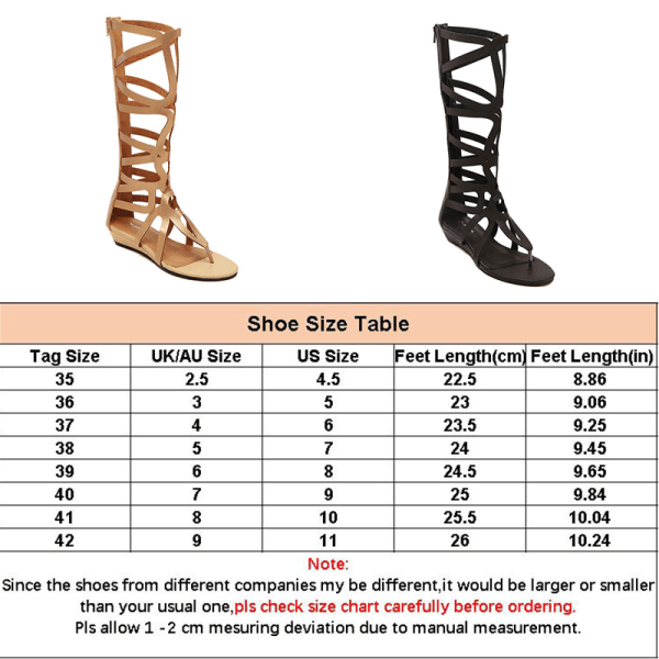 Ladies High Sleeve Sandals Summer Hollow Flip Flop Sandals Black,39