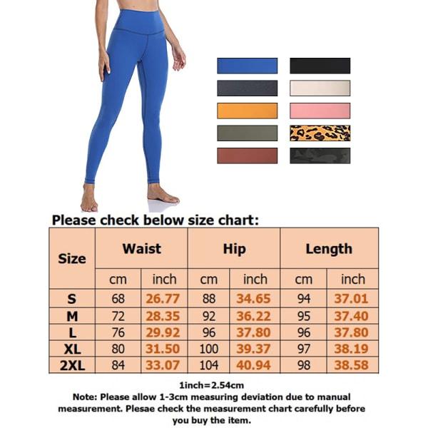 Ladies high waist stretch yoga pants fitness sweatpants Leopard,S