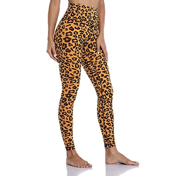 Ladies high waist stretch yoga pants fitness sweatpants Leopard,XL