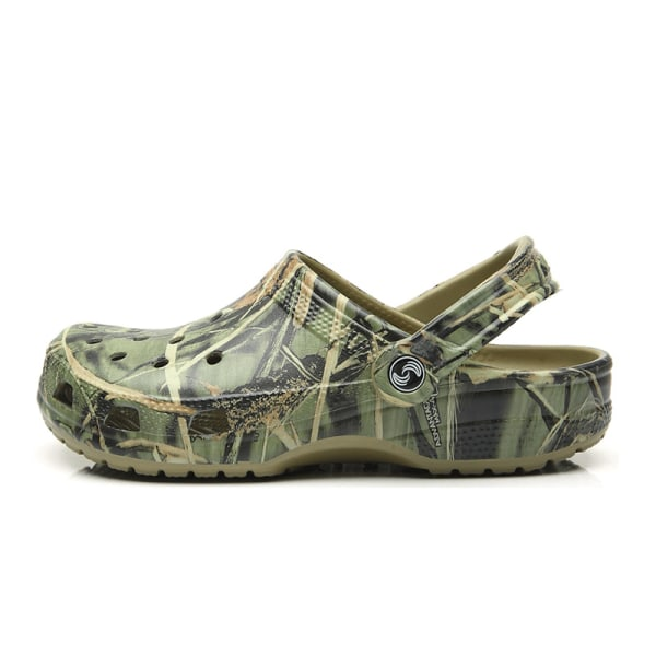 Ladies hole shoes summer slippers breathable sandals Green,46