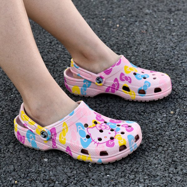 Ladies hole shoes summer slippers breathable sandals Pink,39