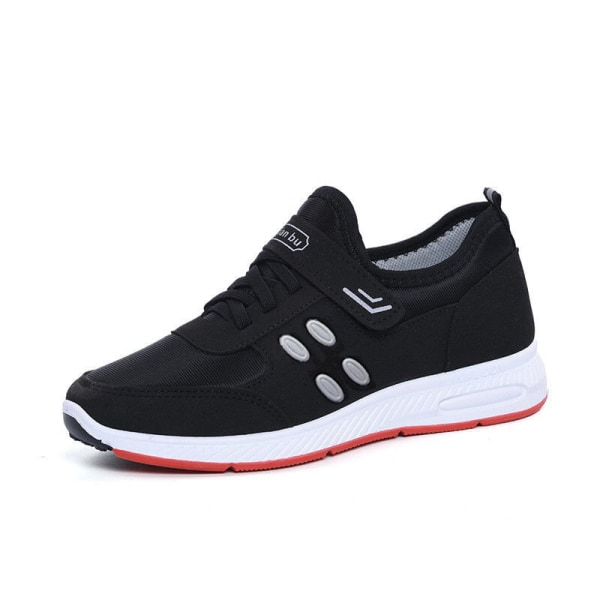 Ladies nonslip breathable velcro light sports shoes Black,41