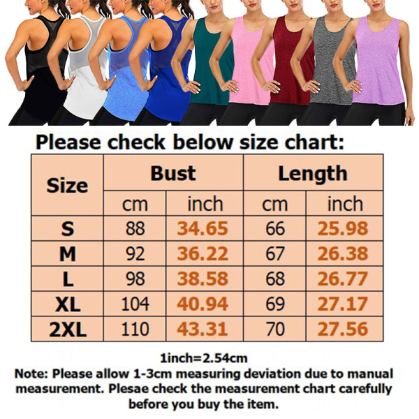 Ladies Racerback Yoga Fitness T-Shirt Sports Tank Sleeveless Color blue