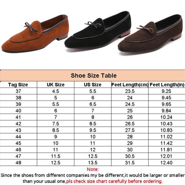 Men Bowknot Suede Shoes Comfortable Fashion Black Size 48 Black,43