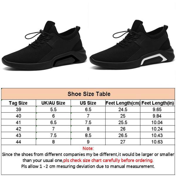 Men business casual outdoor running sneakers drawstring Black,42