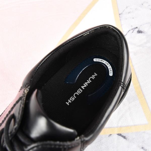 Men casual business shoes low tube platform lace up shoes Black,43