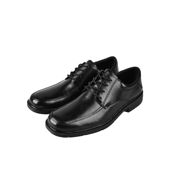 Men casual business shoes low tube platform lace up shoes Black,44.5