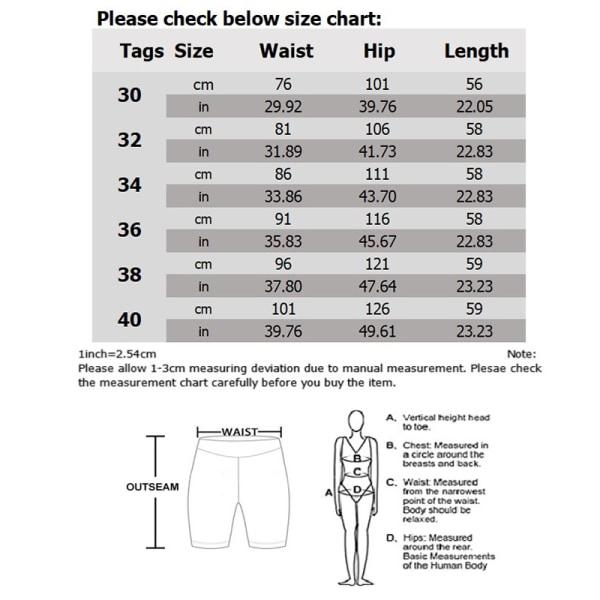 Men Cotton Lightweight Workwear Beach Shorts with Multi Pockets Black,34