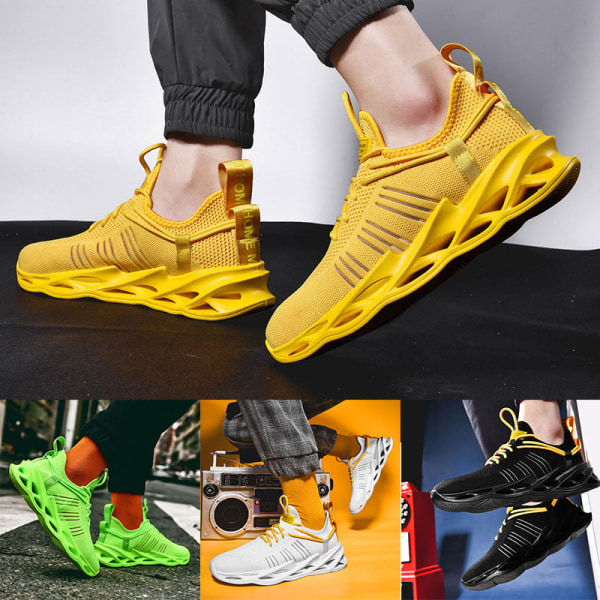Men's Athletic Sneakers Walking Sports Running Lace Up Shoes Green,39