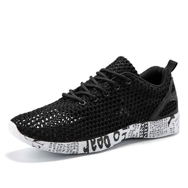 Men's breathable casual shoes comfortable sports shoes Black,42