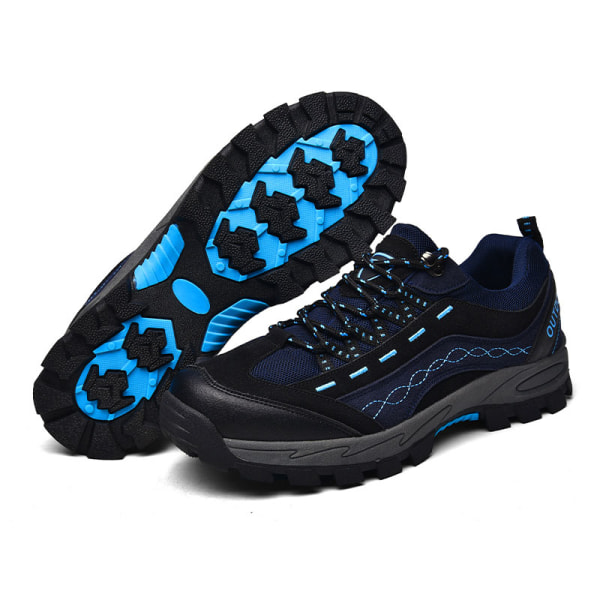 Men's cross-country hiking shoes breathable rock climbing shoes Blue,42