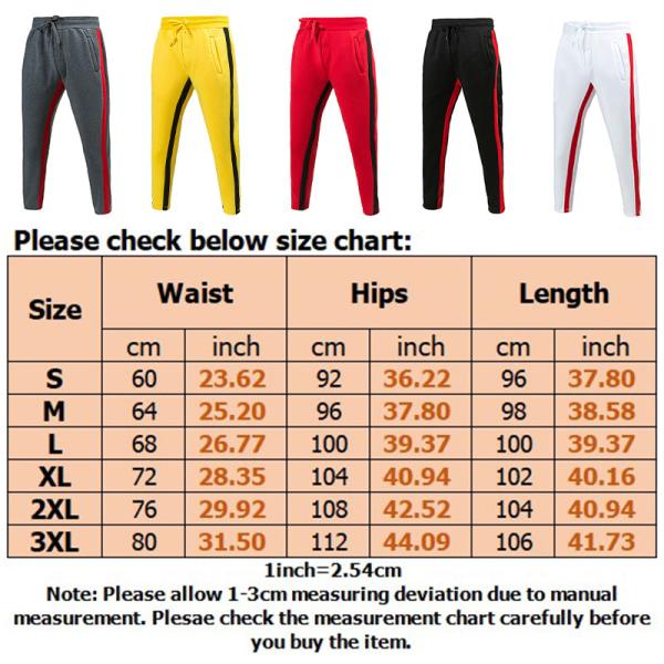 Men's Elastic Waist Closure Sweatpants Casual Pants yellow,3XL