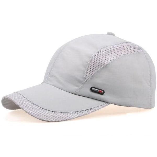 Men's Fashion Baseball Cap Adjustable Hat Sun Visor Quick Dry Light Gray