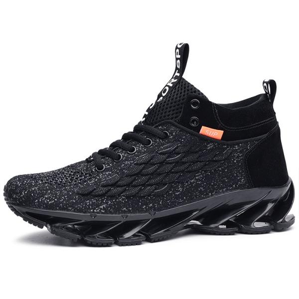 Men's Fashion Running Tennis Shoes Air Cushion Sneakers Black,43