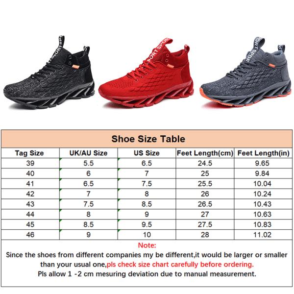 Men's Fashion Running Tennis Shoes Air Cushion Sneakers Grå,42