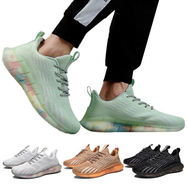 Men's Fashion Sneakers Platform Cushioned Sneakers Apple Green,44