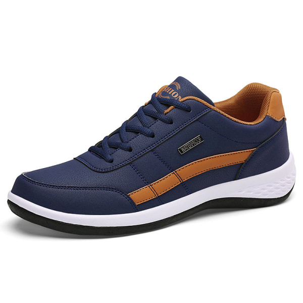 Men's Lightweight Outdoor Sports Shoes Printed Casual Shoes Blue ,48