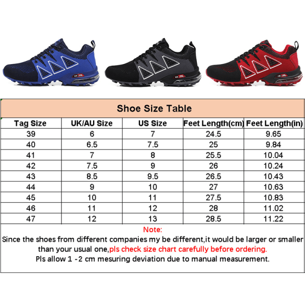 Men's off-road shoes outdoor sports shoes casual shoes Black,41