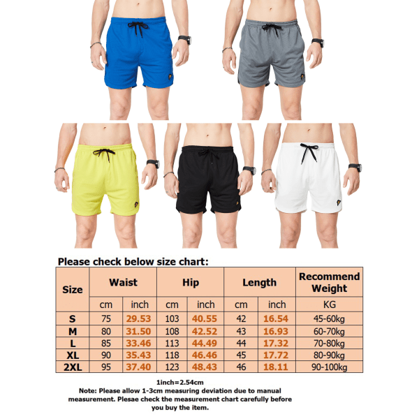Men's Quick-Drying Casual Shorts Loose Sweatpants White,XXL