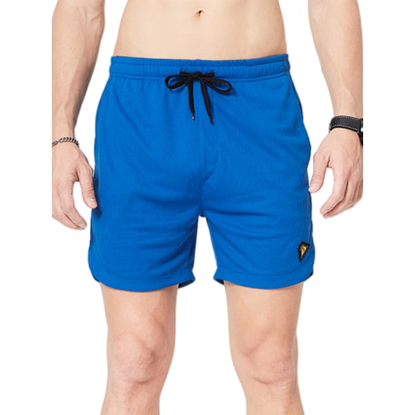 Men's Quick-Drying Casual Shorts Loose Sweatpants Blue,XL