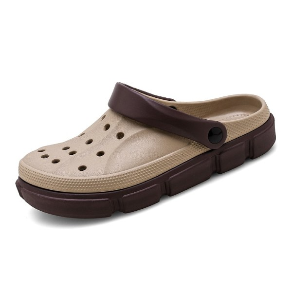 Men's ripped shoes summer slippers comfortable sandals Khaki,43