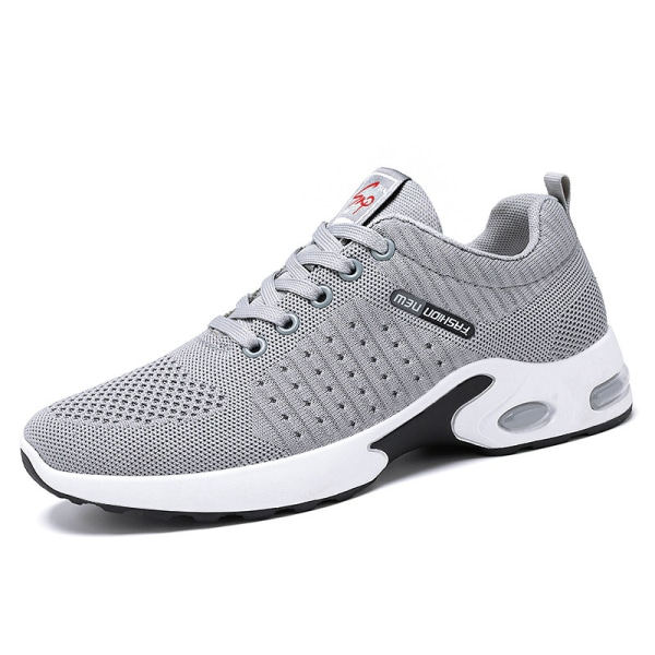 Men's running tennis shoes breathable training sneakers Gray ,40