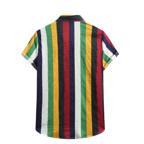 Men's Short Sleeve Shirt Summer Beach Hawaii Casual T-Shirt Top Black,M