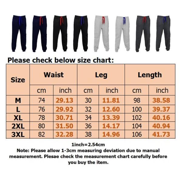 Men's solid color loose jogging sweatpants fitness casual pants Navy blue,XXL