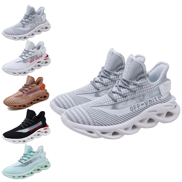 Men's training running sneakers breathable casual shoes Black,43