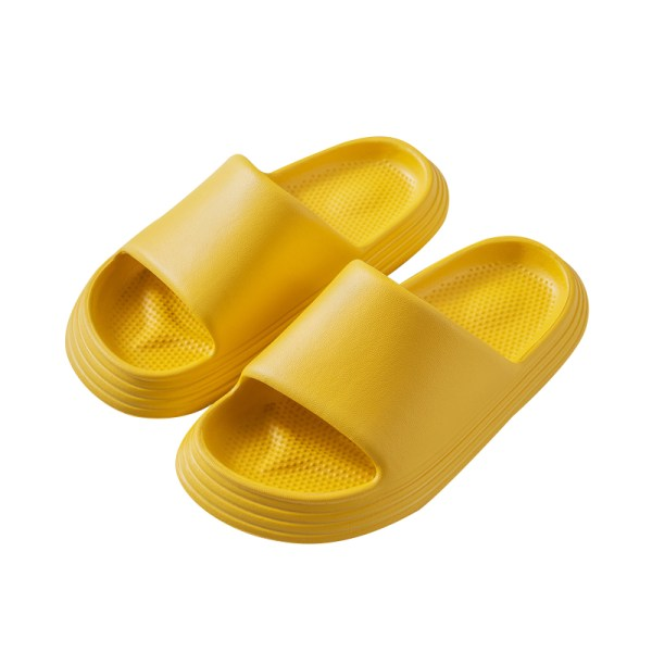Single Product - Kids - Slippers-Candy Color&Hidden Leaking Hole Yellow,220
