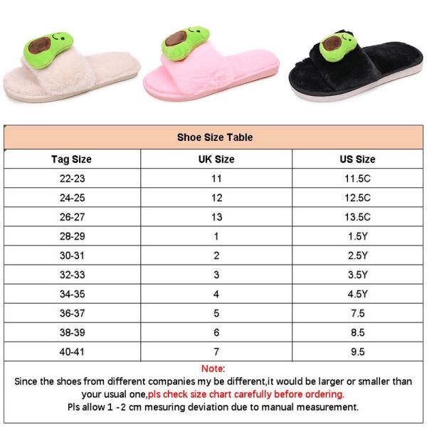 Single Product - Women&Kids-Indoor Slippers-Avocado Plush Mules Black,34/35
