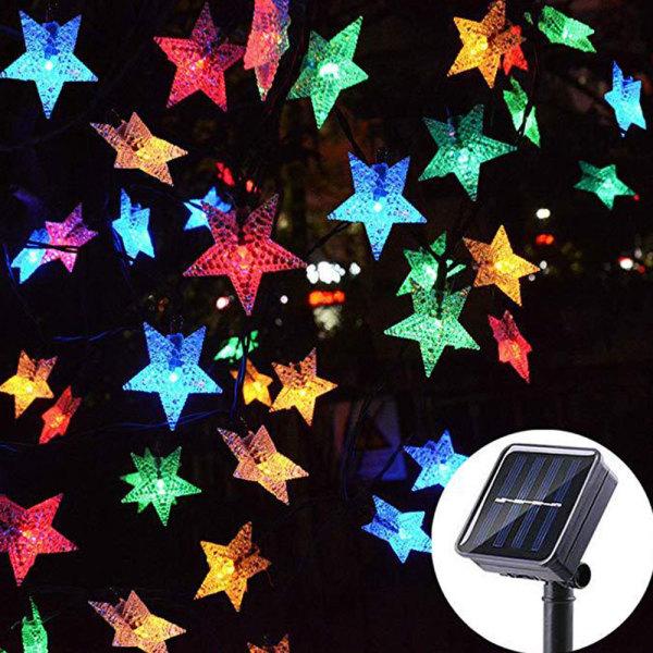 Solar Powered String LED Lights Waterproof Star Decor Garden Colorful 100LED 12M