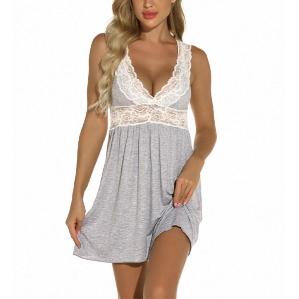 Super Value-Women-Babydoll&Nightgown&Pajamas&Sleepwear&Nightwear Gray,S