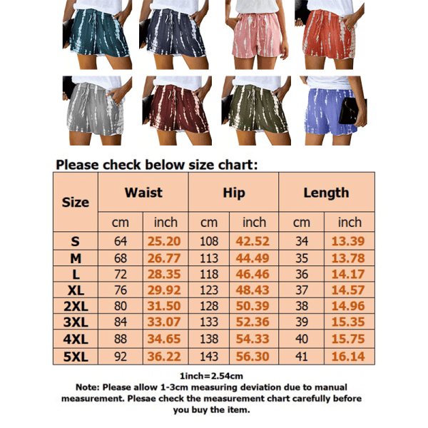 Super Value-Women-Pants&Shorts&Trunks-Tie Dye&Wide Leg Shorts Green,5XL