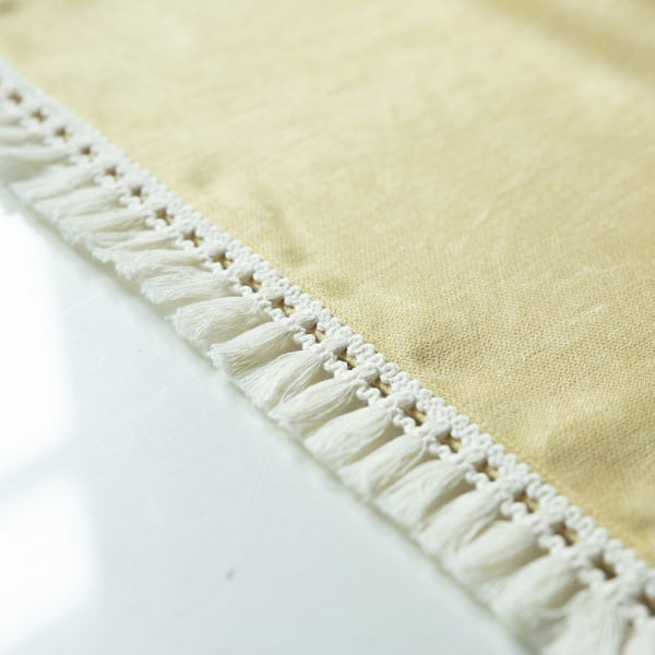 Tablecloth Cotton Linen Square Rectangle Dining Table Cover Yellow 140x220cm