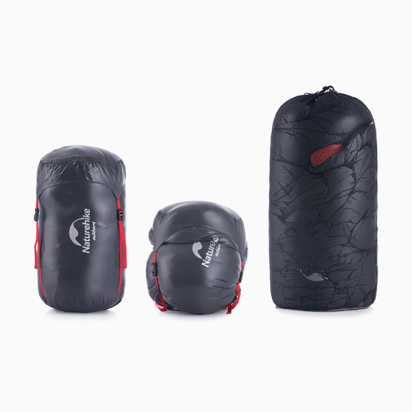 Ultralight Outdoor Camping Sleeping Bags Goose Down Thickening Grey 1000g