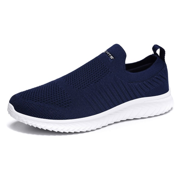 Unisex Breathable Wearable Flat Sneakers Non slip Sneakers Navy Blue,44