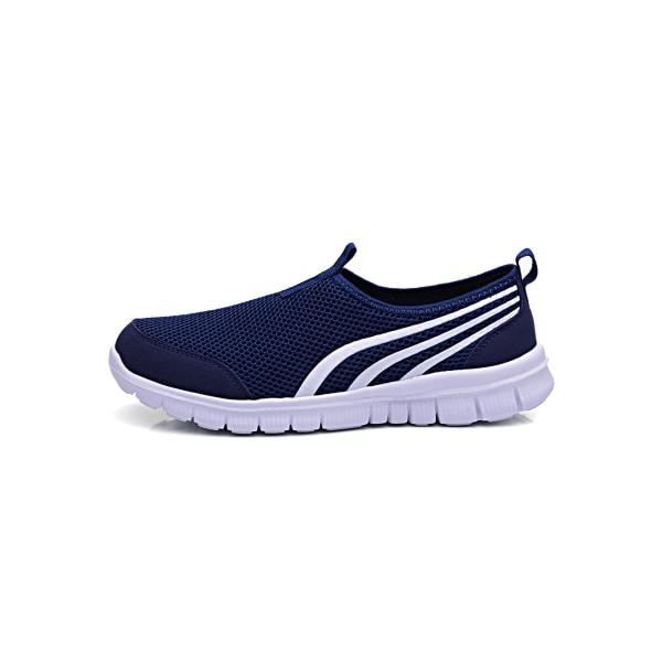 Unisex children casual flat wear resistant sneakers Navy Blue,31
