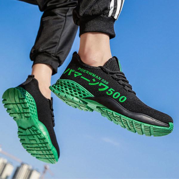 Unisex fashion sneakers walking running training shoes Dark Green,38