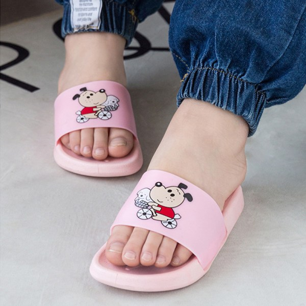 Unisex girls and boys soft-soled beach shoes comfortable slipper Pink,24/25