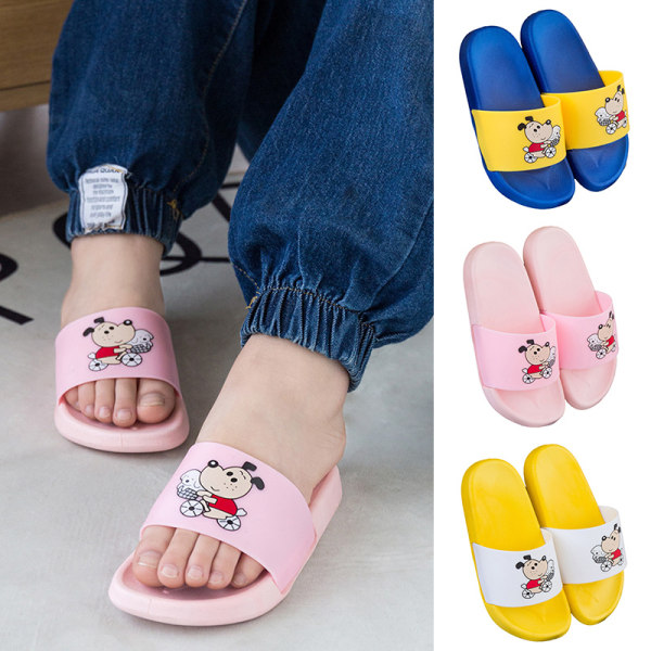 Unisex girls and boys soft-soled beach shoes comfortable slipper Pink,32/33