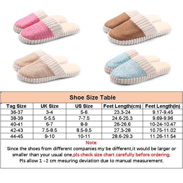 Unisex Slippers Slides Shoes Mules Round Toe Footwear Slip On Blue,38-39