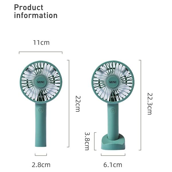 USB Rechargeable Fans Air Cooler Mini Portable purple