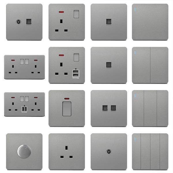 Wall Electric Socket Wall Switches & Sockets + USB 2 Gang 2 Way