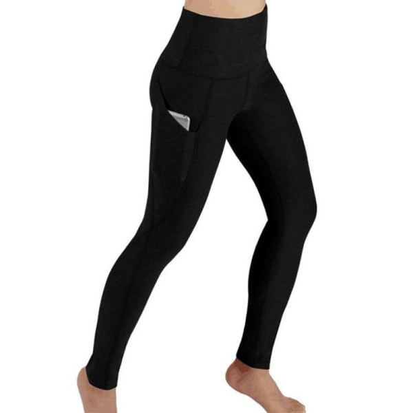 Women high waist hip-lifting yoga pants sports fitness pants Black,XXL