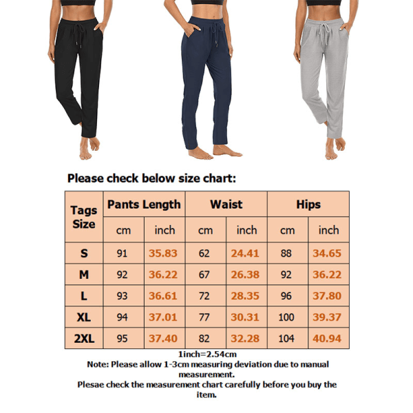 Women High Waist Yoga Pants Casual Drawstring Leg Trousers Light Grey,S